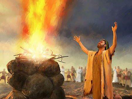 Elijah at the altar
