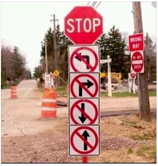 Stop, No Way