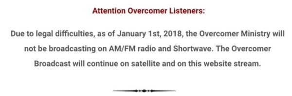 Overcomer Message 2018.01.01-Not Broadcasting