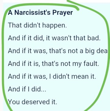 Narcissist Prayer