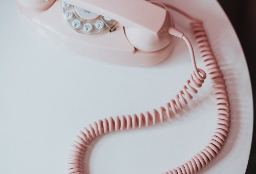 Pink Telephone Table